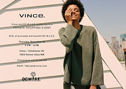 Join DC Wise + Vince for a private shopping event on 11/16!