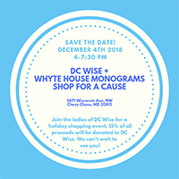 holiday shopping event with DC Wise